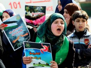 Yermuk Kampı'ndaki insani dram protesto edildi