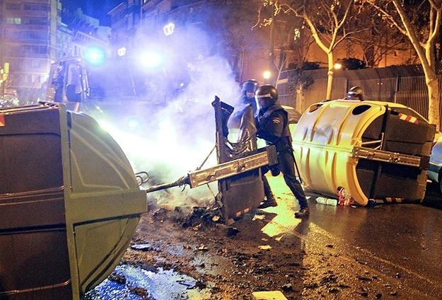 İspanya'da Burgos'a destek gösterileri 1