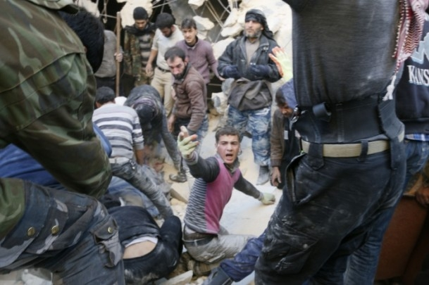 """Suriye'de """"varil bombalı"""" saldırı 1"""