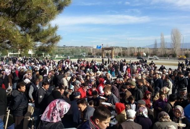 Kütahya'da 5 bin kişi yağmur ve kar duasına çıktı 6