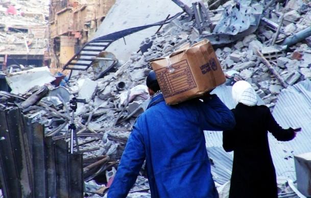 Yermuk Mülteci Kampı'nda yardım dağıtımı 5