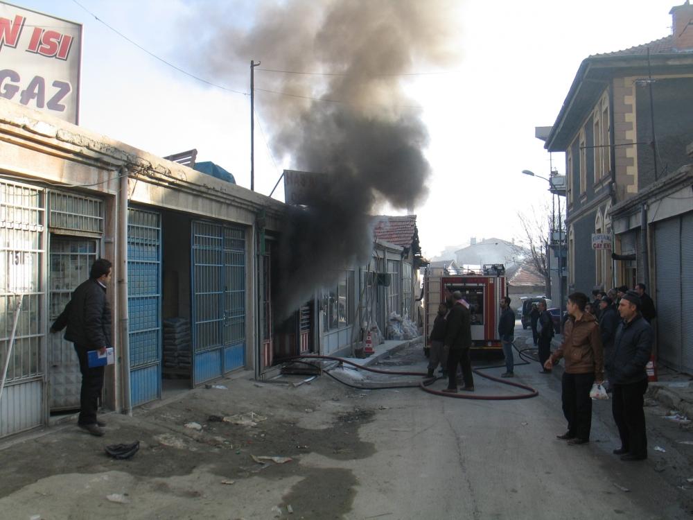 Konya'da yangın 2