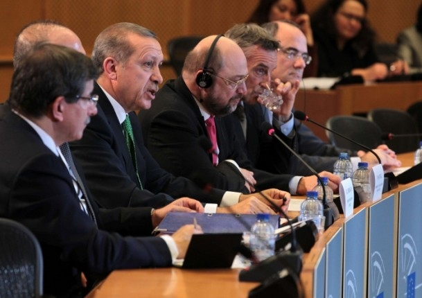 Başbakan Erdoğan - AP Başkanı Schulz görüşmesi 1