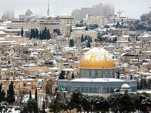 Kudüs'e kar düştü... 3