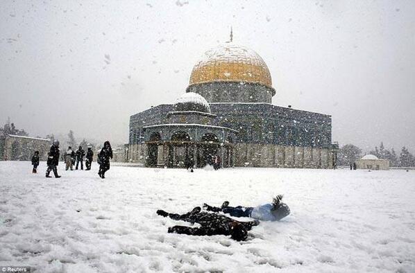 Kudüs'e kar düştü... 6