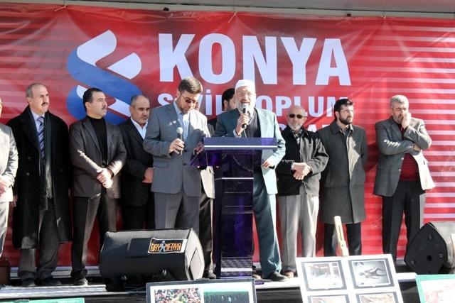 Konya'da STK'lar Suriye'deki katliamı protesto etti 1