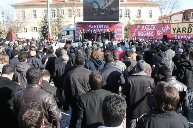 Konya'da STK'lar Suriye'deki katliamı protesto etti 2