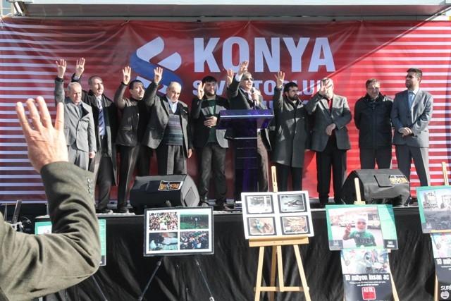 Konya'da STK'lar Suriye'deki katliamı protesto etti 5
