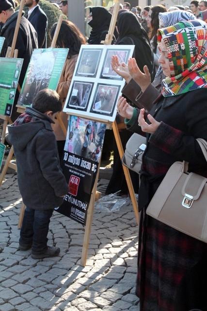 Konya'da STK'lar Suriye'deki katliamı protesto etti 7