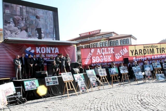 Konya'da STK'lar Suriye'deki katliamı protesto etti 8