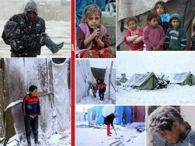 Suriyeli çocuklar donuyor... 11