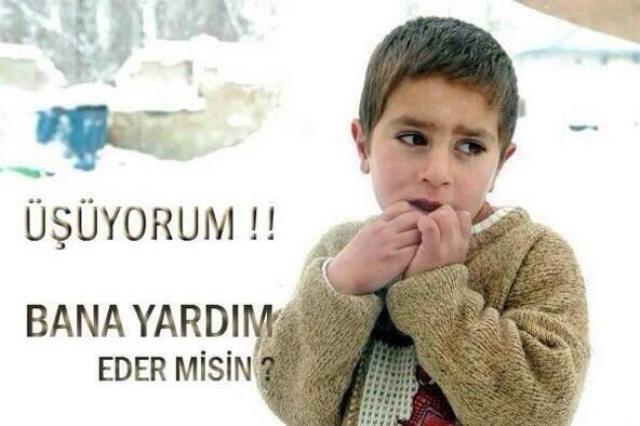 Suriyeli çocuklar donuyor... 24