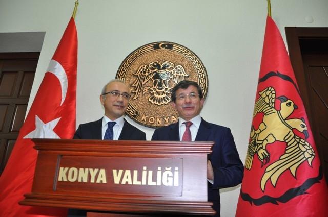 Dışişleri Bakanı Davutoğlu ve Bakan Elvan, Konya'da 19