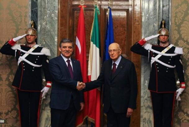 Cumhurbaşkanı Abdullah Gül İtalya'da 1
