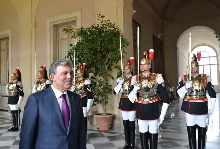 Cumhurbaşkanı Abdullah Gül İtalya'da 13