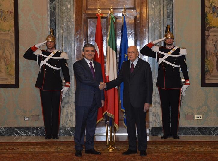 Cumhurbaşkanı Abdullah Gül İtalya'da 14
