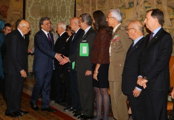 Cumhurbaşkanı Abdullah Gül İtalya'da 2