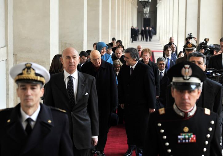 Cumhurbaşkanı Abdullah Gül İtalya'da 20