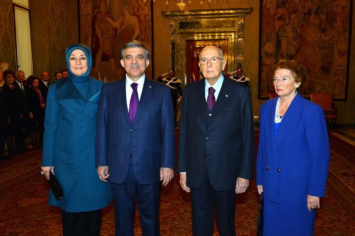 Cumhurbaşkanı Abdullah Gül İtalya'da 22