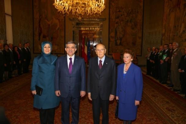 Cumhurbaşkanı Abdullah Gül İtalya'da 4
