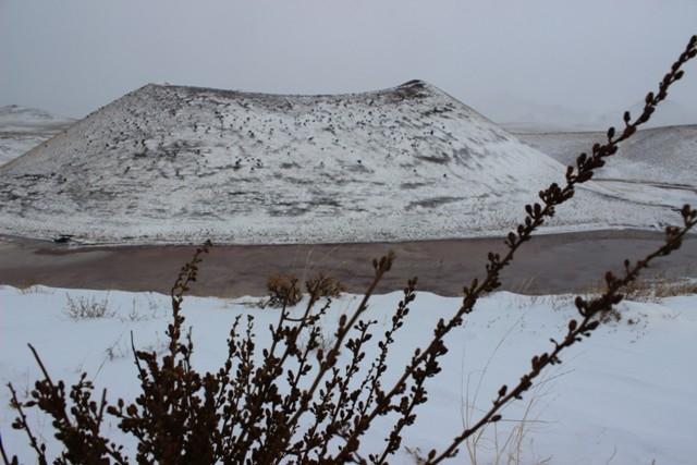 Meke Gölü'nde kar manzarası 8