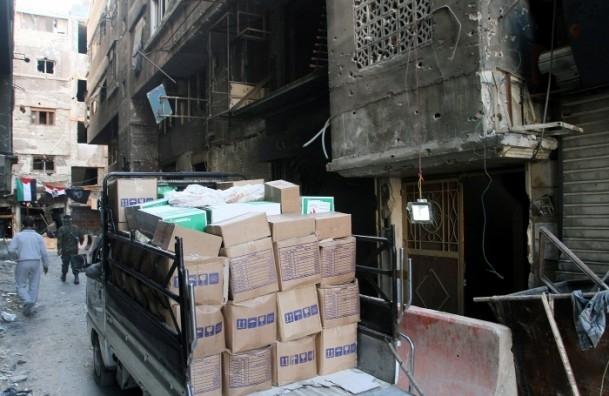 Yermuk mülteci kampına 2 bin 500 adet yardım paketi 2