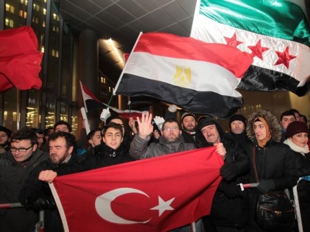 Başbakan Erdoğan'a Almanya'da coşkulu karşılama 15