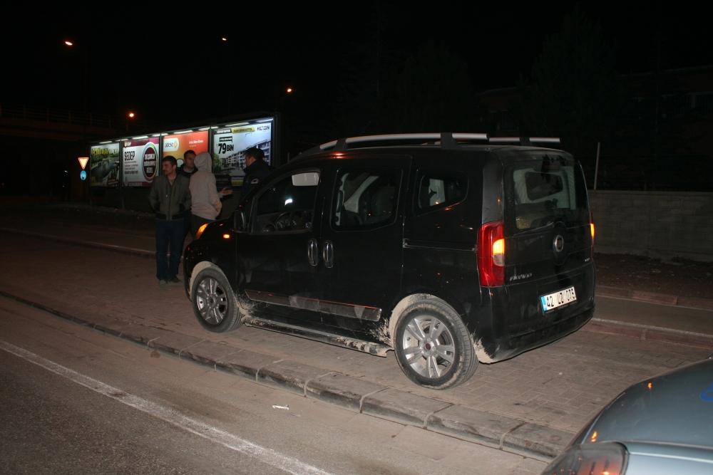 Konya'da polis-şüpheli kovalamacası 1