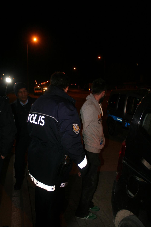 Konya'da polis-şüpheli kovalamacası 2