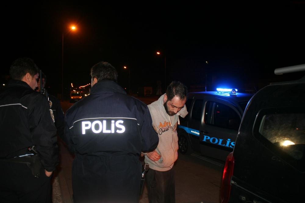 Konya'da polis-şüpheli kovalamacası 3