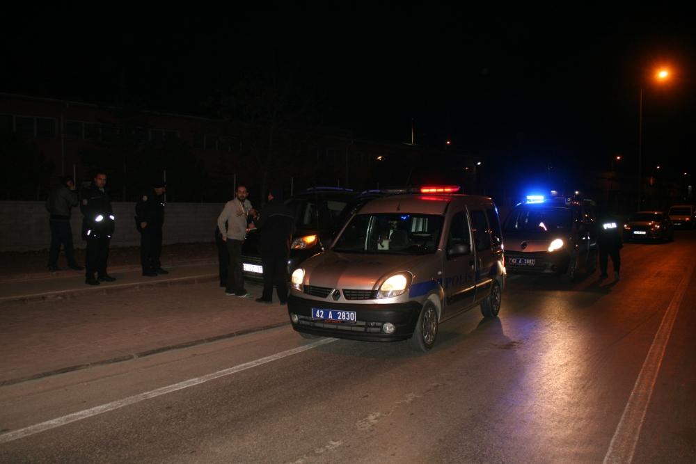 Konya'da polis-şüpheli kovalamacası 4