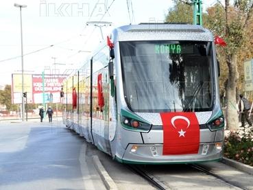 Konya'ya gelen yeni tramvay yolcu taşımaya başladı 15