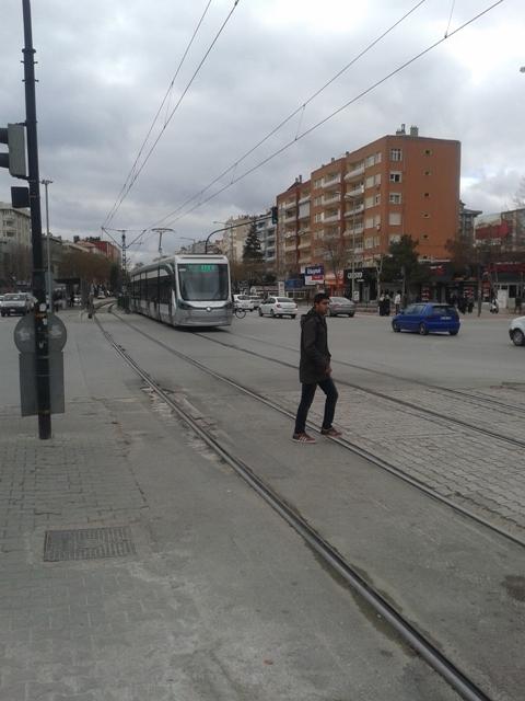 Konya'ya gelen yeni tramvay yolcu taşımaya başladı 43