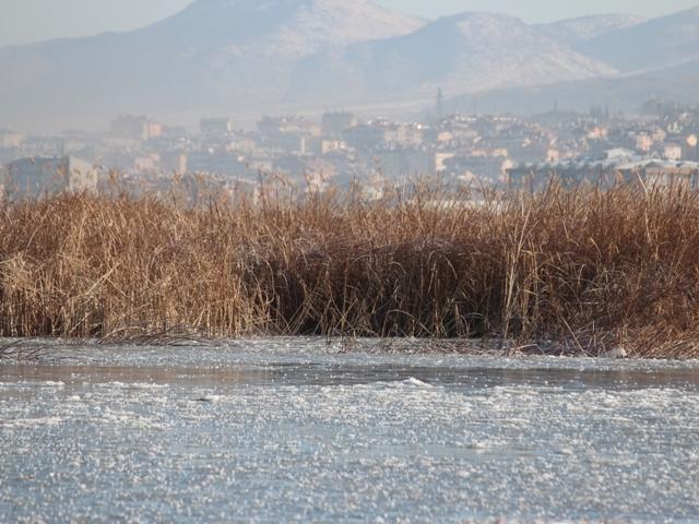 Beyşehir buz tutuyor 1