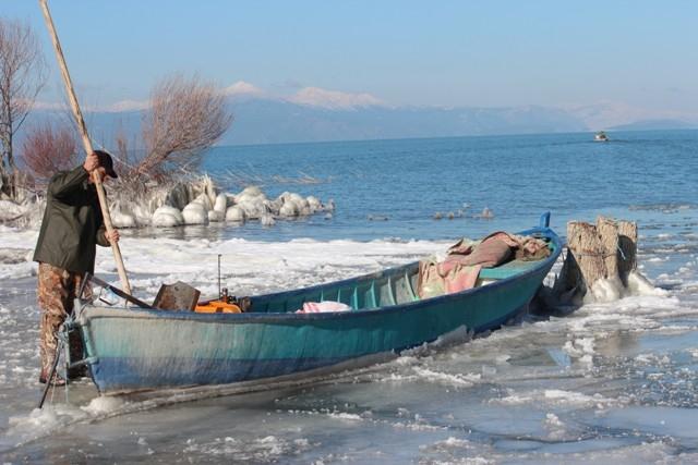 Beyşehir buz tutuyor 14