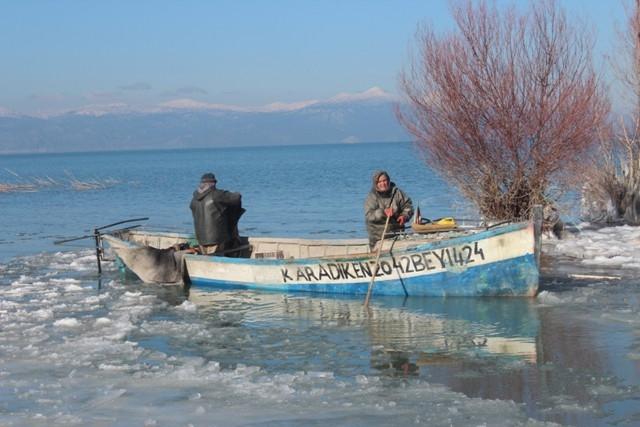 Beyşehir buz tutuyor 2