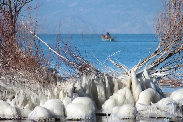 Beyşehir buz tutuyor 4