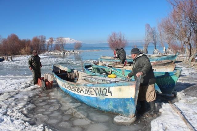 Beyşehir buz tutuyor 5
