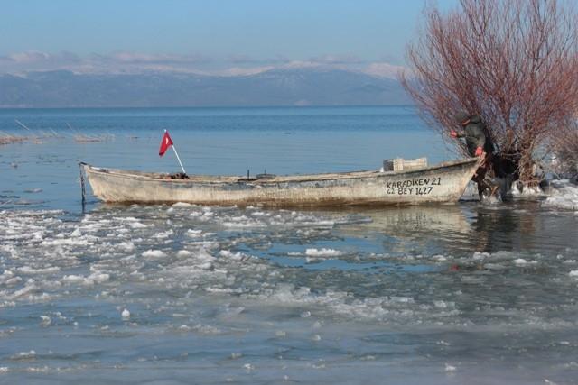 Beyşehir buz tutuyor 6