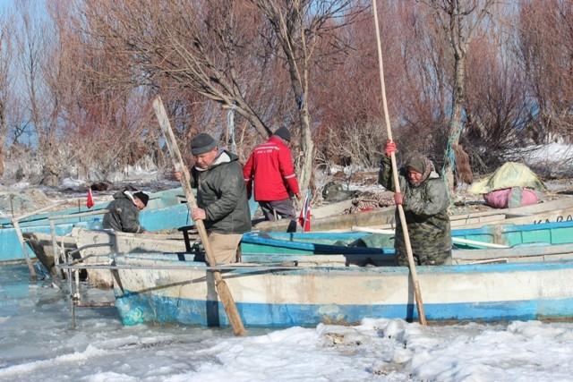 Beyşehir buz tutuyor 8
