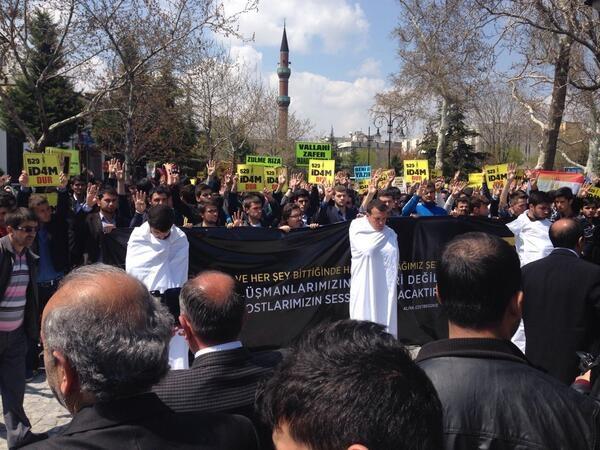 Mısır'daki idam kararları Konya'da protesto edildi 11
