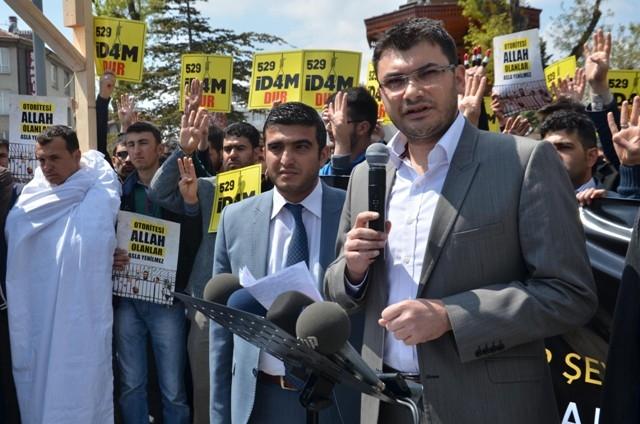 Mısır'daki idam kararları Konya'da protesto edildi 2