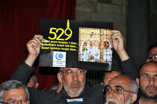Mısır'da 528 kişinin idama mahkum edilmesi 1