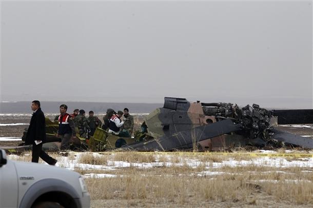 Askeri helikopter düştü: 4 şehit 2