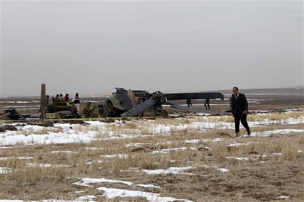 Askeri helikopter düştü: 4 şehit 3