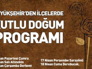 """Büyükşehir'den İlçelerde """"Kutlu Doğum"""" Programı"""