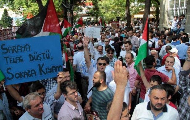 Yüzbinler Gazze için sokaklara döküldü 15
