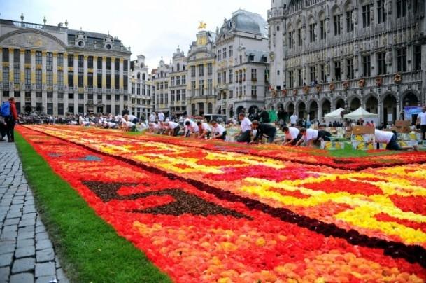 Brüksel'de çiçekten Türk halısı 2