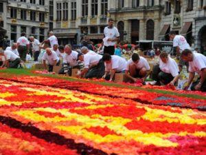 Brüksel'de çiçekten Türk halısı