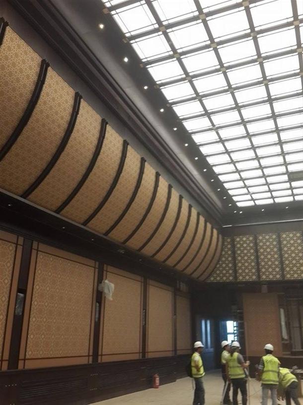 İskele kaldırıldı 'Başkanlık Sarayı' ortaya çıktı 8